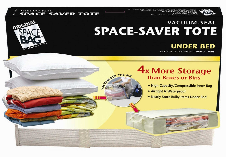 Space saver tote bags